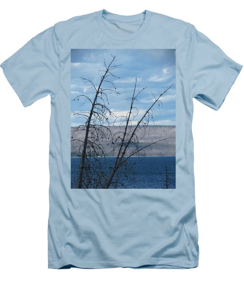 Men's T-Shirt (Slim Fit) featuring the photograph Remnants Of The Fire by Laurel Powell
