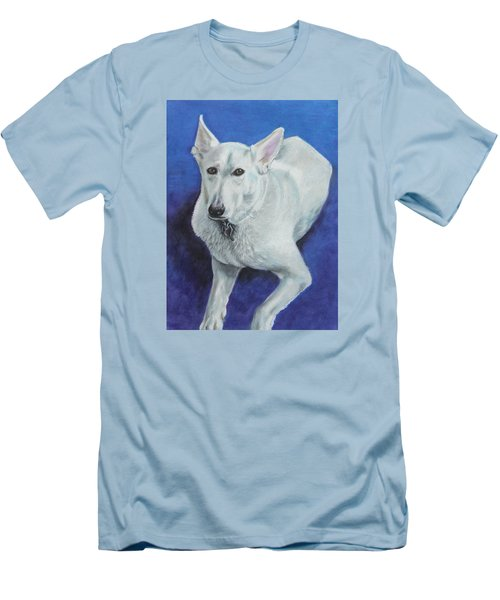 Men's T-Shirt (Slim Fit) featuring the painting Reno by Jeanne Fischer