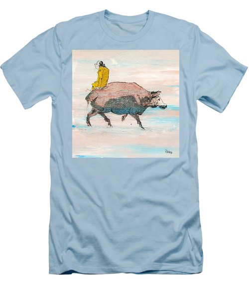 Riding A Blind Ox In Search Of The Tiger Men's T-Shirt (Slim Fit) by Roberto Prusso