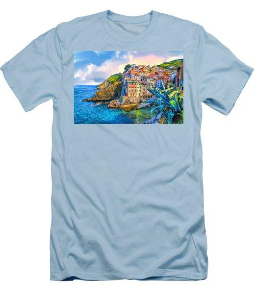 Riomaggiore Morning - Cinque Terre Men's T-Shirt (Athletic Fit)