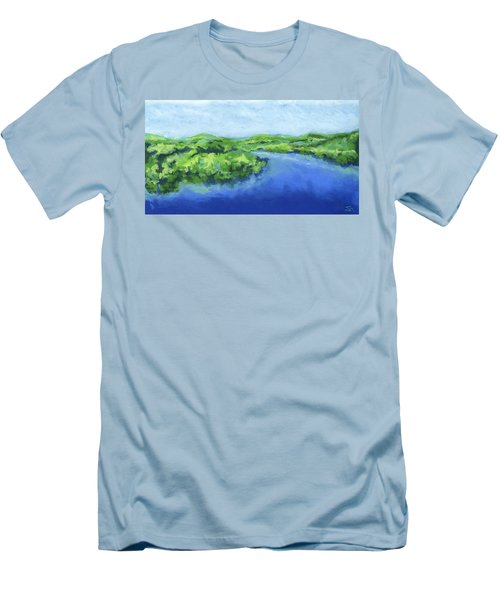 River Bend Men's T-Shirt (Slim Fit) by Stephen Anderson