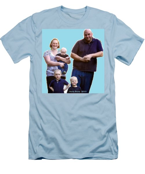 Men's T-Shirt (Slim Fit) featuring the painting Robert Nutting Family by Bruce Nutting