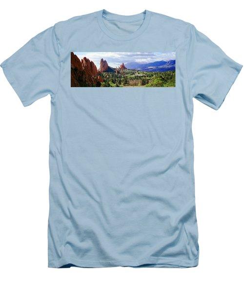 Rock Formations On A Landscape, Garden Men's T-Shirt (Athletic Fit)