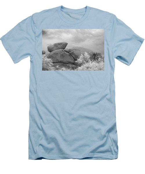 Rocks Under Ir Sky Men's T-Shirt (Athletic Fit)