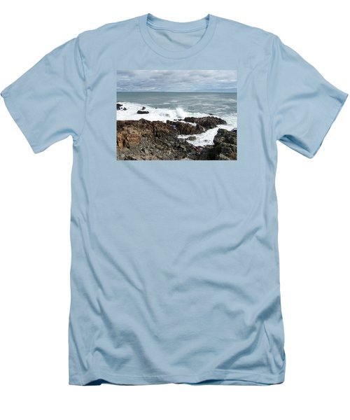 Rocky Coast Men's T-Shirt (Slim Fit) by Catherine Gagne