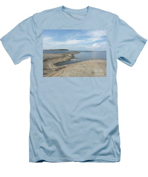 Rocky Coastline In Hamina Men's T-Shirt (Athletic Fit)