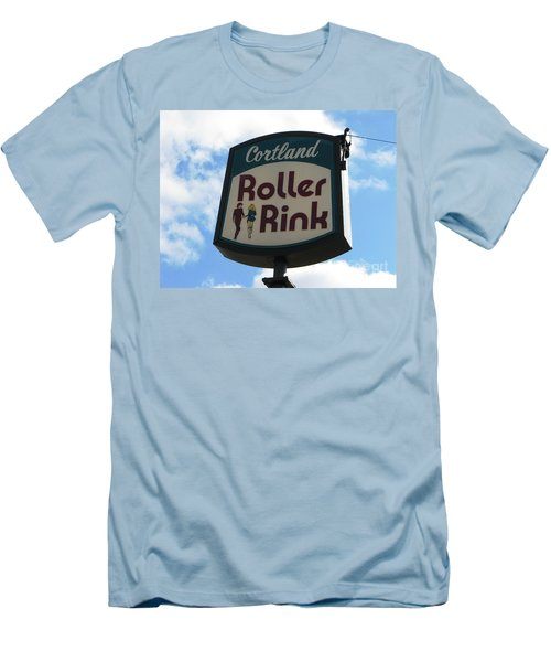 Roller Rink Men's T-Shirt (Slim Fit) by Michael Krek