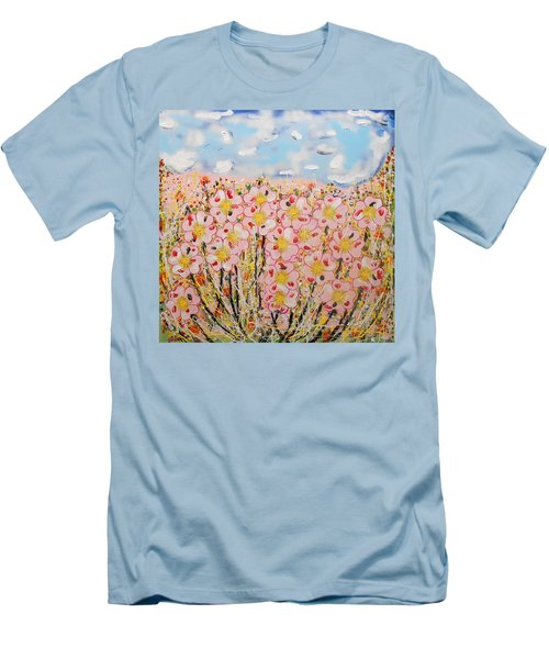 Rosa Ruby Flower Garden Men's T-Shirt (Athletic Fit)