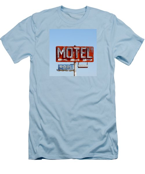 Route 66 Motel Sign Men's T-Shirt (Slim Fit) by Art Block Collections