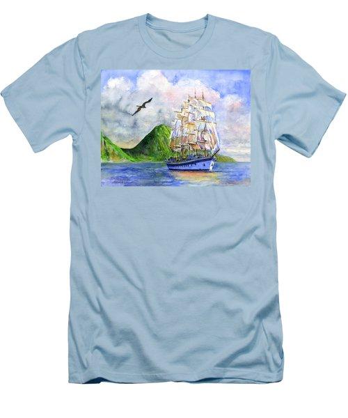 Royal Clipper Leaving St. Lucia Men's T-Shirt (Athletic Fit)
