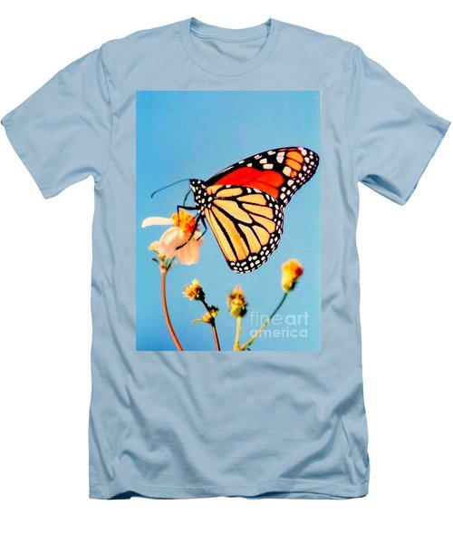 Men's T-Shirt (Slim Fit) featuring the photograph Mississippi Royal Monarch  by Michael Hoard