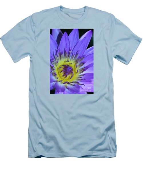 Royal Purple Water Lily #11 Men's T-Shirt (Athletic Fit)
