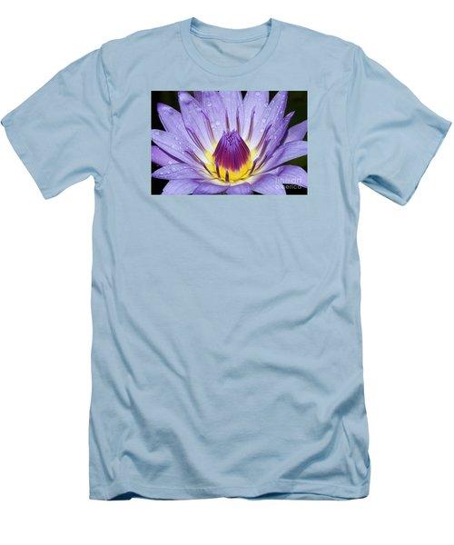 Royal Purple Water Lily #3 Men's T-Shirt (Slim Fit)
