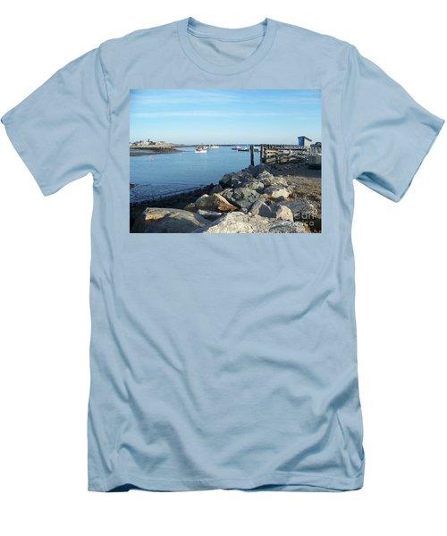 Rye Harbor  Men's T-Shirt (Slim Fit) by Eunice Miller