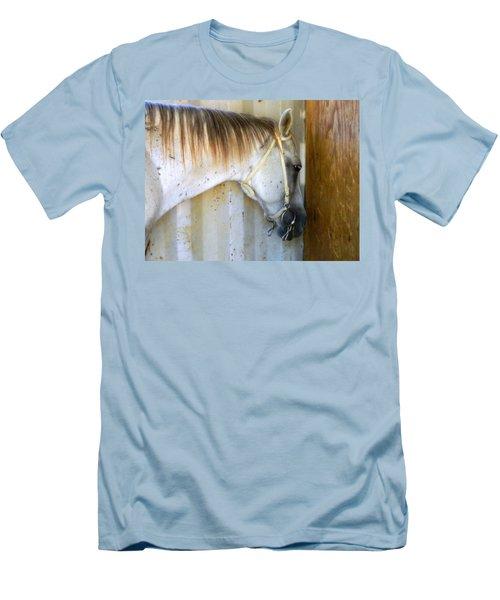 Saddle Break Men's T-Shirt (Slim Fit) by Kathy Barney