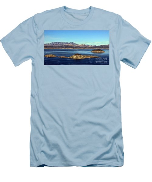 Sail Away Men's T-Shirt (Slim Fit) by Tammy Espino