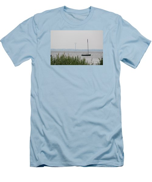 Sailboat Men's T-Shirt (Slim Fit) by David Jackson