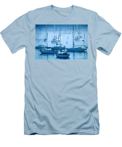 Sailboats In The Fog II Men's T-Shirt (Athletic Fit)