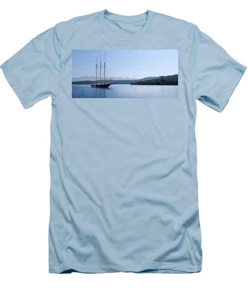 Sailing Ship In The Adriatic Islands Men's T-Shirt (Athletic Fit)