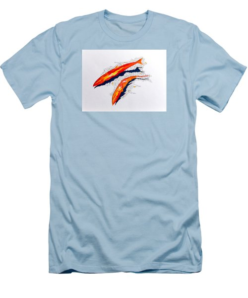 Men's T-Shirt (Slim Fit) featuring the painting Salmon Run by Richard Faulkner