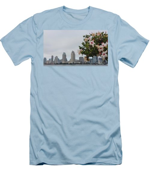 Men's T-Shirt (Slim Fit) featuring the photograph San Diego From Coronado View by Jasna Gopic