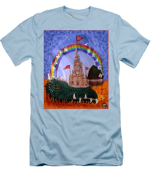 Men's T-Shirt (Slim Fit) featuring the photograph Sandcastle Shirt by Wendy McKennon