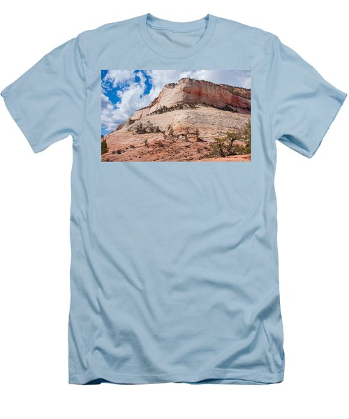 Men's T-Shirt (Slim Fit) featuring the photograph Sandstone Mountain by John M Bailey