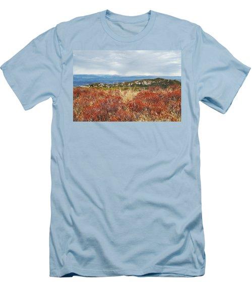 Sandstone Peak Fall Landscape Men's T-Shirt (Slim Fit) by Kyle Hanson