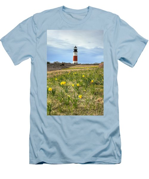 Sankaty Lighthouse Nantucket Men's T-Shirt (Athletic Fit)
