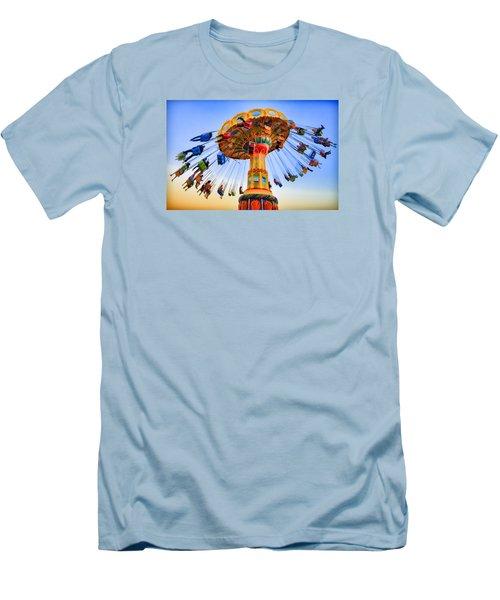 Santa Cruz Seaswing At Sunset 6 Painterly Men's T-Shirt (Athletic Fit)