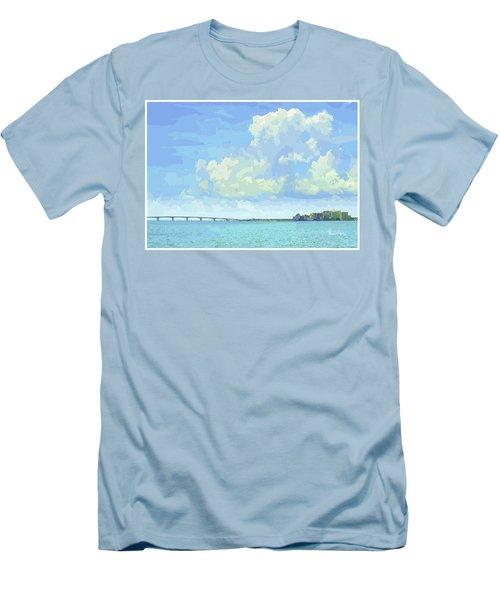 Sarasota Skyline From Sarasota Bay Men's T-Shirt (Athletic Fit)