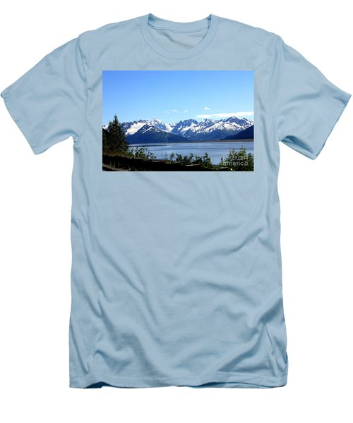 Men's T-Shirt (Slim Fit) featuring the photograph Scenic Byway In Alaska by Kathy  White
