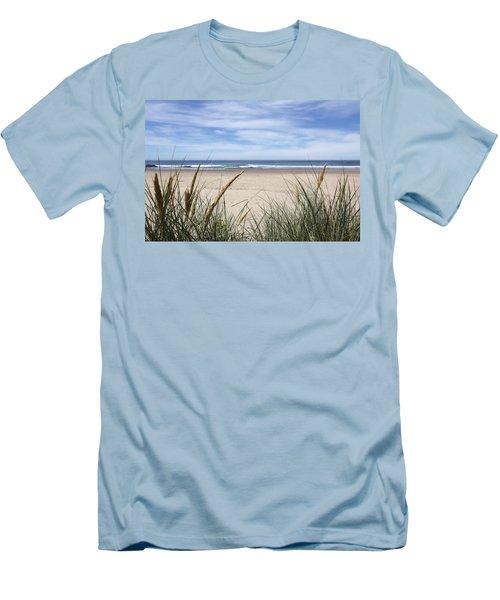 Scenic Oceanview Men's T-Shirt (Slim Fit) by Athena Mckinzie