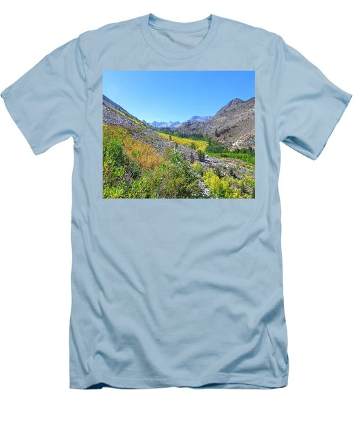 Men's T-Shirt (Slim Fit) featuring the photograph Scenic Peace by Marilyn Diaz