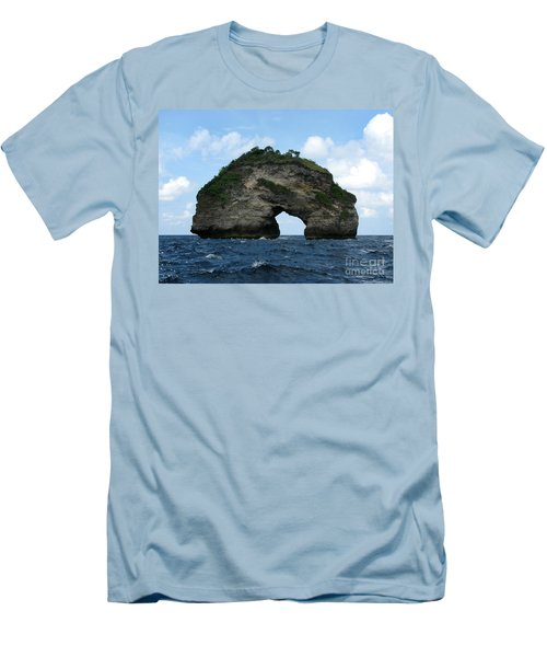 Men's T-Shirt (Slim Fit) featuring the photograph Sea Gate by Sergey Lukashin