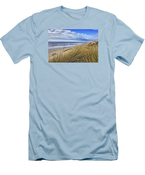 Sea Grass And Sand Dunes Men's T-Shirt (Athletic Fit)