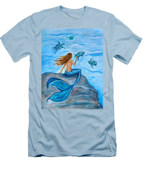 Sea Turtle Friends Men's T-Shirt (Athletic Fit)