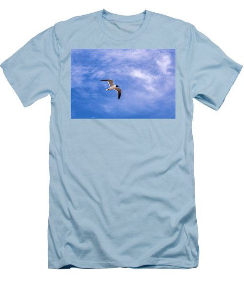 Men's T-Shirt (Slim Fit) featuring the photograph Seagull by Sennie Pierson
