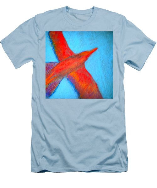 Seagull Silhouette Men's T-Shirt (Athletic Fit)