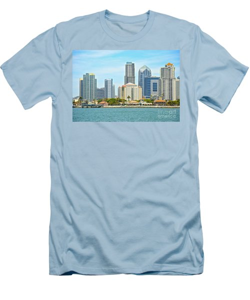 Seaport Village And Downtown San Diego Buildings Men's T-Shirt (Athletic Fit)