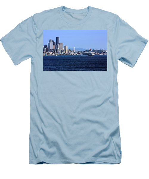 Men's T-Shirt (Slim Fit) featuring the photograph Seattle Skyscrapers by Kristin Elmquist