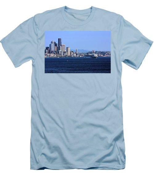 Seattle Skyscrapers Men's T-Shirt (Slim Fit) by Kristin Elmquist