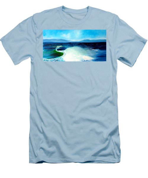 Secret Beach Surf Art Men's T-Shirt (Athletic Fit)