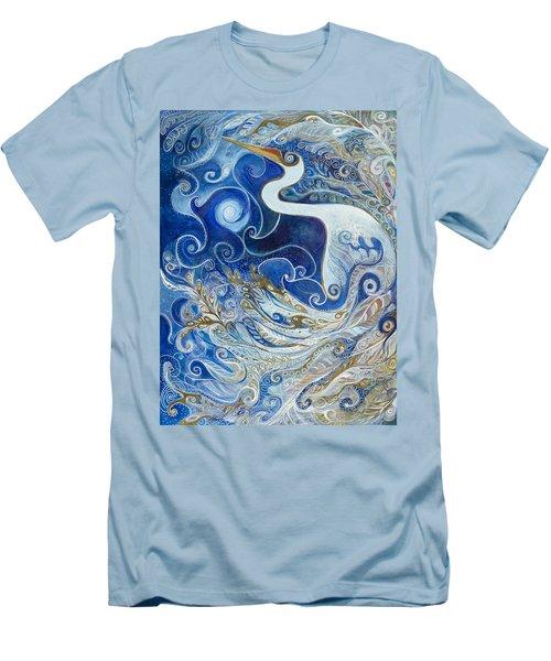 Seeking Balance Men's T-Shirt (Slim Fit) by Leela Payne