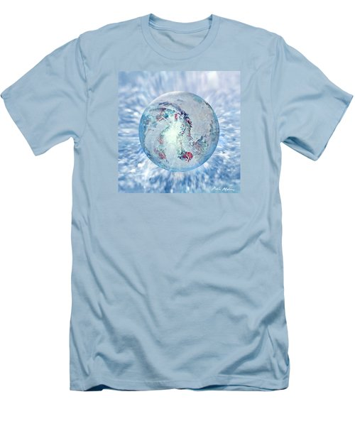 Men's T-Shirt (Slim Fit) featuring the painting Shades Of Winter by Robin Moline