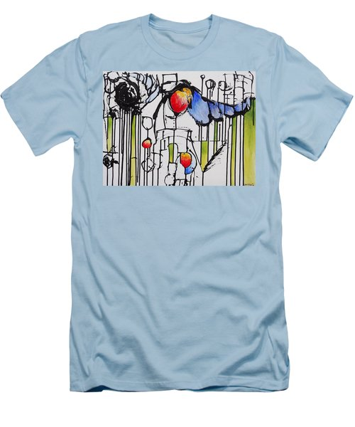 Men's T-Shirt (Slim Fit) featuring the painting Sharpened Perception by Jason Williamson