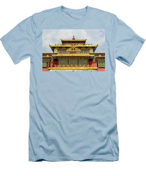 Shechen Monastery In Kathmandu Men's T-Shirt (Athletic Fit)