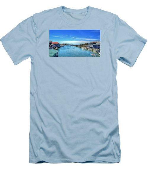 Men's T-Shirt (Slim Fit) featuring the photograph Shem Creek by Kathy Baccari