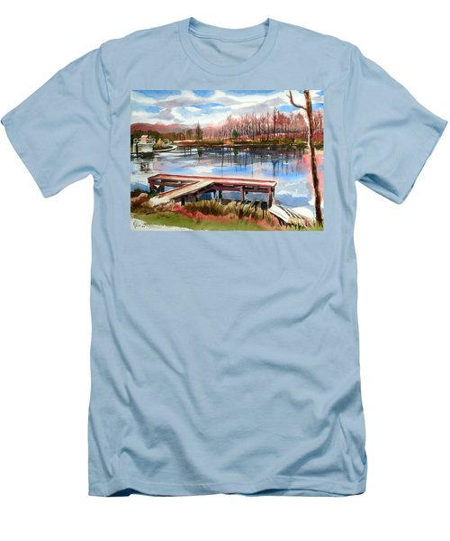 Shepherd Mountain Lake In Winter Men's T-Shirt (Athletic Fit)