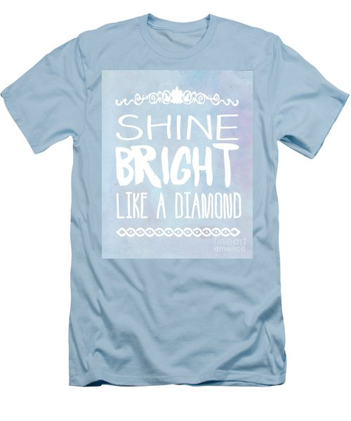 Shine Bright Blue Men's T-Shirt (Slim Fit) by Pati Photography